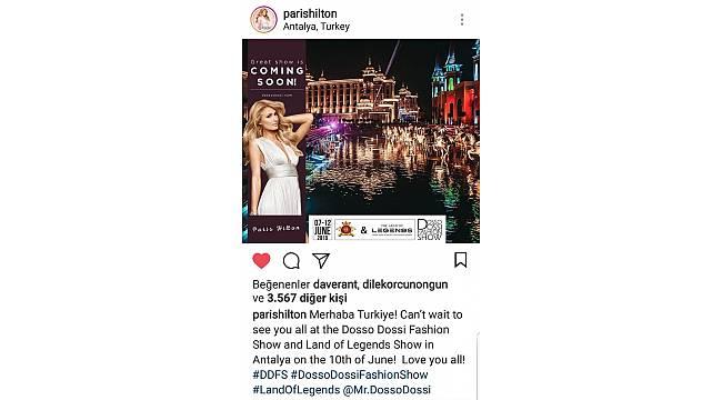 """Paris Hilton'dan mesaj var: """"Merhaba Türkiye, hepinizi seviyorum"""""""