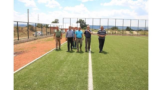 ASKF Başkanı Murat Cengiz Domaniç'te sahaları inceledi