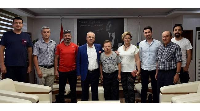 Başkan Kayda, Türkiye şampiyonunu ağırladı