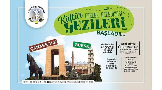 Efeler Belediyesi kültür gezileri için başvurular başladı
