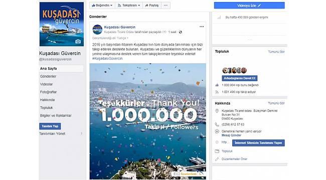 Kuşadası Güvercin 1 milyon takipçiye ulaştı