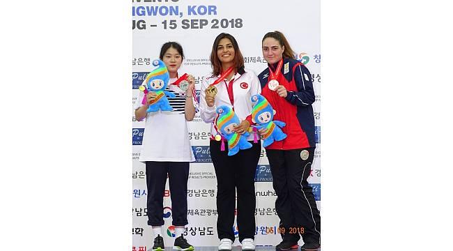 Şevval İlayda Tarhan, Güney Kore'de altın madalya kazandı