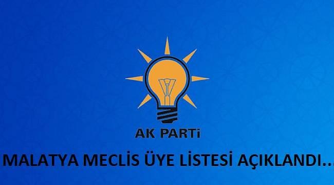 Malatya Belediye Meclis Üyesi Listesi..