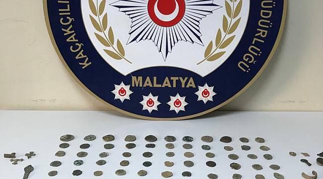 Malatya il Emniyet Müdürlüğü Kaçakçılık Ve Organize Suçlarla Mücadele Şube Müdürlüğü görevlilerimizce Tarihi Eser Kaçakçılığına yönelik