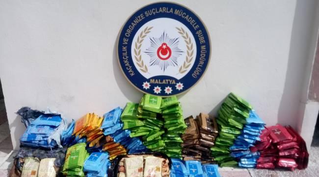Malatya Emniyet Müdürlüğü Kaçak Nargile Tütünü Yakaladı