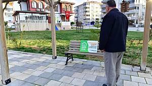 YEŞİLYURT BELEDİYESİ 'EVDE KAL' ÇAĞRISINI PARK ALANLARINA TAŞIDI