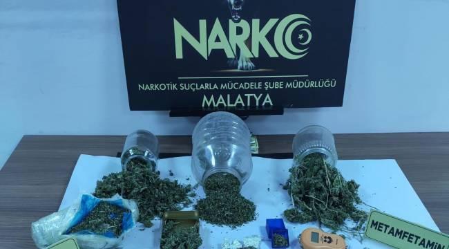Narkotik Suçlarla Mücadele Şube Müdürlüğü görevlilerimizce yapılan iki ayrı çalışmada,